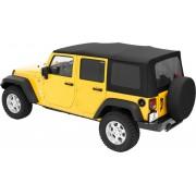 Мягкая крыша Bestop® Supertop® с тонированными окнами для 4-х дверного Jeep Wrangler JK 2007-2018