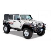Расширители арок Bushwacker, для 4-х дверного Jeep Wrangler JK 2007-2018